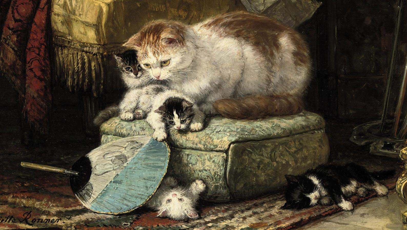 Henriette Ronner-Knip, Hide and Seek, mid 19th century