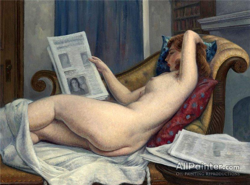 Leon Kroll, Nude Woman Reading a Paper
