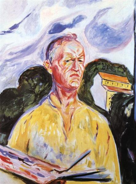 Self-Portrait at Ekely, 1926, Edvard Munch