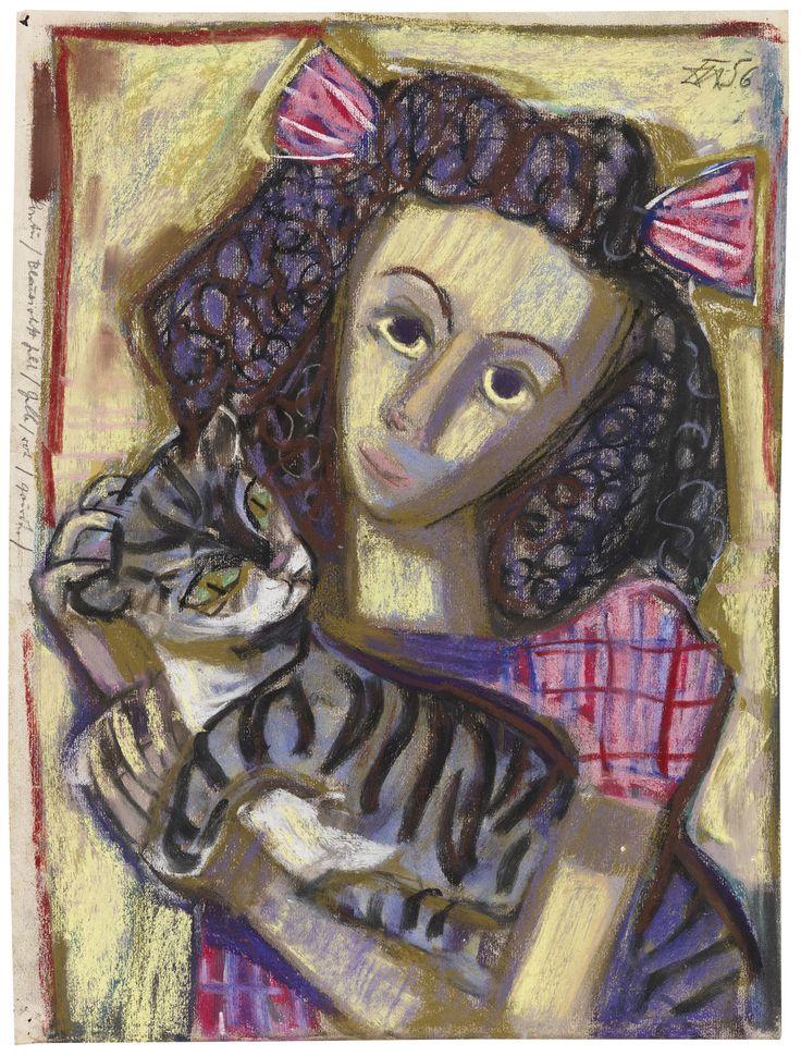 5-Mädchen-mit-Katze-1956-Otto-Dix