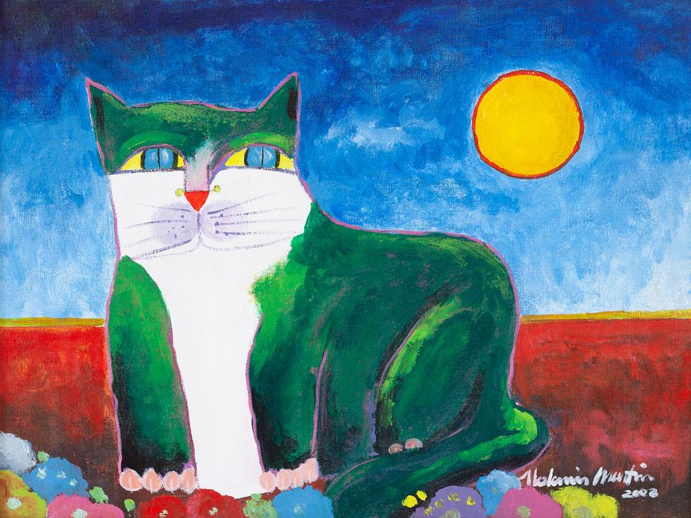 aldemir-martins-gato-verde-acrilica-sobre-tela-14335