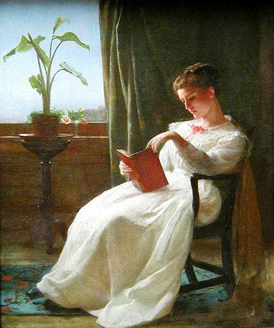 George Cochran Lambdin, Girl Reading