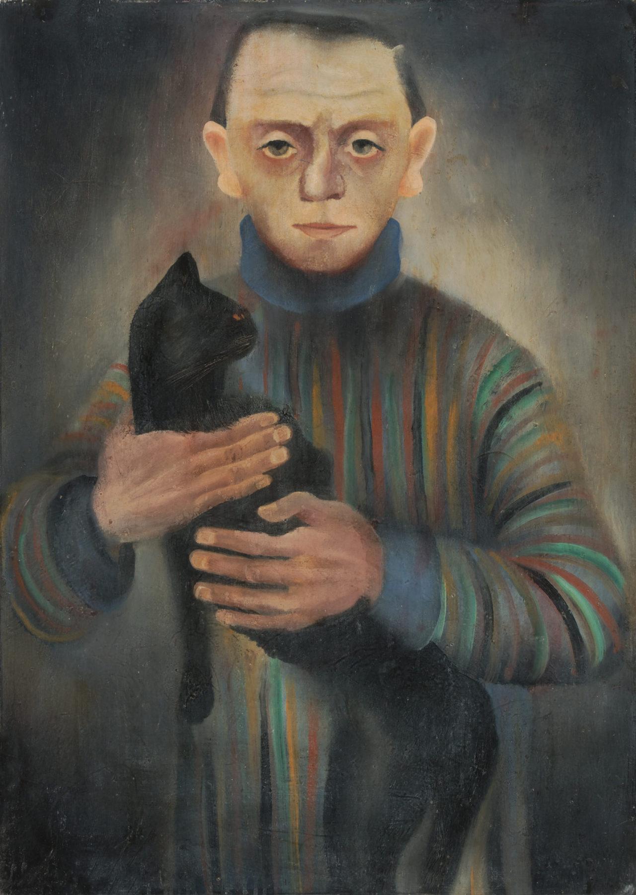 Kaate Diehn-Bitt, Peter Paul Diehn with cat