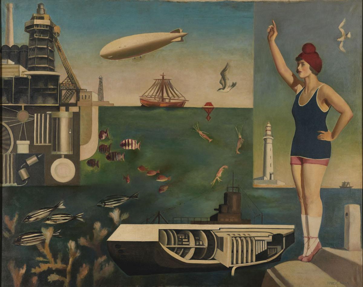 Koga-Harue-Umi-The-Sea, 1929