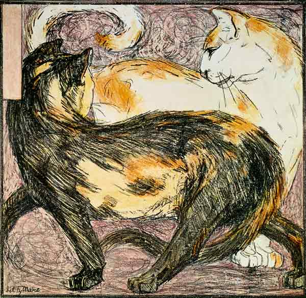 Two Cats, Franz Marc