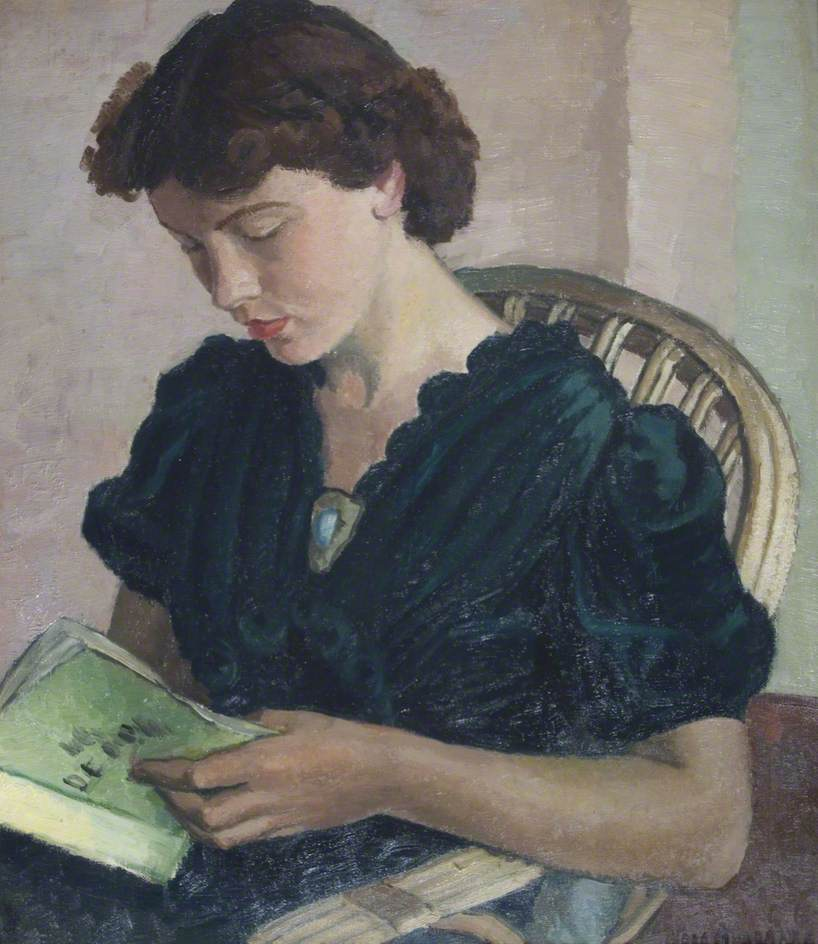 Alabaster, Vera, 1889-1964; Girl Reading