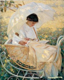 Young Mother in the Garden, Mary Cassatt